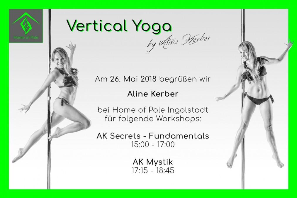 Workshop Vertical Yoga by Aline Kerber | Home of Pole Hepberg Ingolstadt