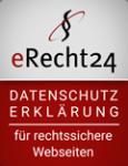 eRecht24 | Siegel | Datenschutz | rot