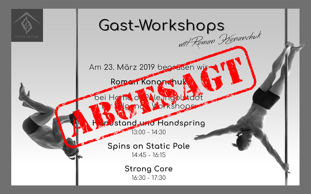 [ABGESAGT] Workshop Roman Konanchuk | Home of Pole Hepberg Ingolstadt